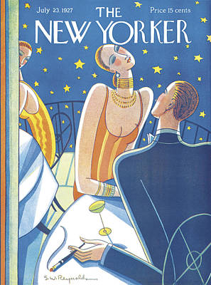 Martinis Photograph - The New Yorker Cover - July 23rd, 1927 by Stanley W Reynolds