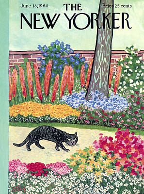 Felines Photograph - The New Yorker Cover - June 18th, 1960 by William Steig