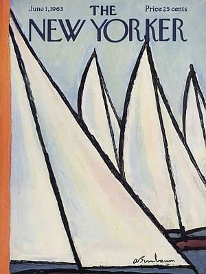 Sailing Photograph - The New Yorker Cover - June 1st, 1963 by Abe Birnbaum