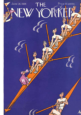 Oars Photograph - The New Yorker Cover - June 26th, 1926 by Julian de Miskey