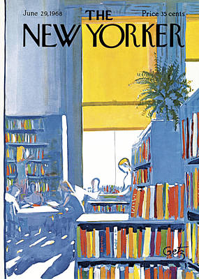 The New Yorker Cover - June 29th, 1968 Art Print by Arthur Getz