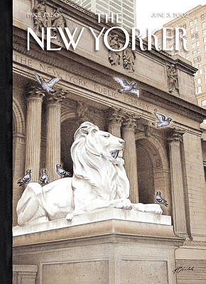Times Square Photograph - The New Yorker Cover - June 3rd, 2002 by Harry Bliss