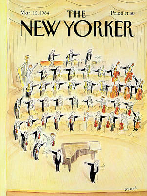 Triangles Photograph - The New Yorker Cover - March 12th, 1984 by Jean-Jacques Sempe