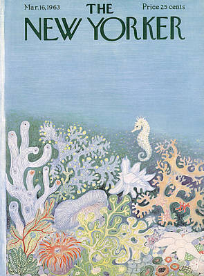 Ilonka-karasz-new-yorker-covers Photograph - The New Yorker Cover - March 16th, 1963 by Conde Nast