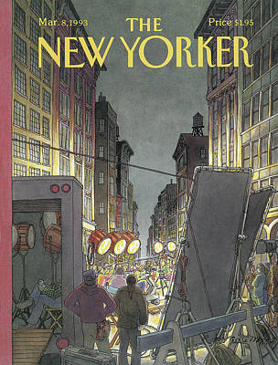 Light Photograph - The New Yorker Cover - March 8th, 1993 by Roxie Munro