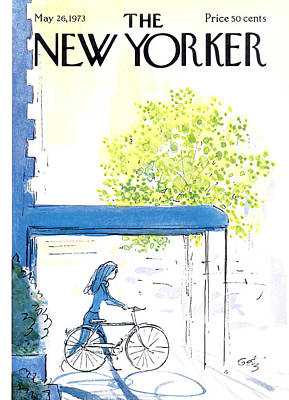 Riding Photograph - The New Yorker Cover - May 26th, 1973 by Arthur Getz