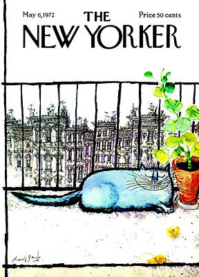 Pets Photograph - The New Yorker Cover - May 6th, 1972 by Ronald Searle