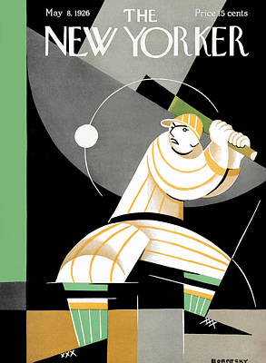 Softball Photograph - The New Yorker Cover - May 8th, 1926 by Conde Nast