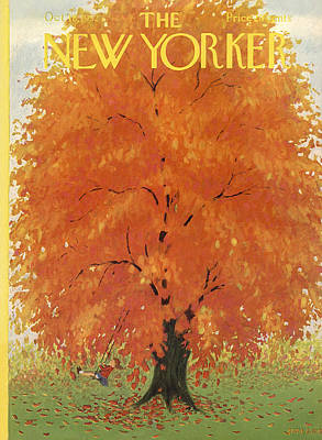 Autumn Photograph - The New Yorker Cover - October 18th, 1952 by Conde Nast