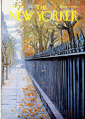 Autumn Leaf Painting - Autumn In New York by Arthur Getz
