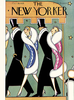 Nighttime Photograph - The New Yorker Cover - October 30th, 1926 by S W Reynolds