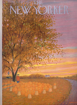 Autumn Painting - The New Yorker Cover - October 31st, 1953 by Conde Nast
