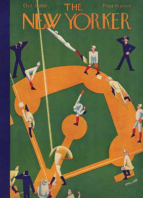 Players Photograph - The New Yorker Cover - October 5th, 1929 by Theodore G Haupt