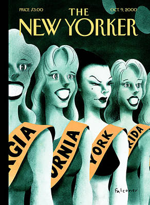 Blondes Photograph - The New Yorker Cover - October 9th, 2000 by Ian Falconer
