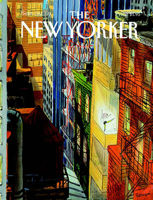 Ballerina Photograph - The New Yorker Cover - September 20th, 1993 by Jean-Jacques Sempe