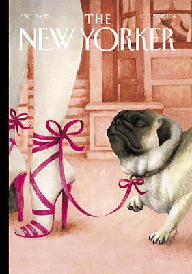 Pug Wall Art - Photograph - The New Yorker Cover - September 27th, 2004 by Ana Juan