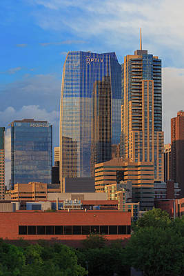 Denver Skyline Photograph - The Newest Skyscraper In Downtown Denver - 1144 Fifthteenth Street by Bridget Calip