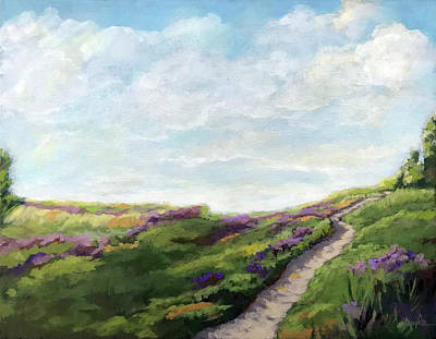 Painting - The Next Adventure - Landscape Painting by Linda Apple