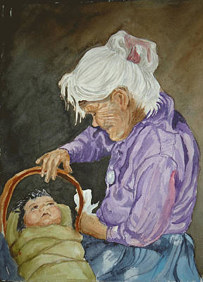 Navajo Children Painting - The Next Generation by Charme Curtin