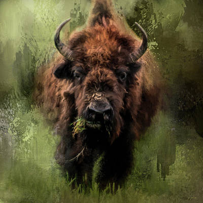 The Nibbler Bison Art By Jai Johnson Art Print