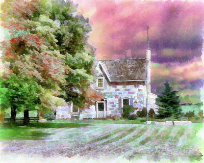Digital Art - Century Home by Leslie Montgomery