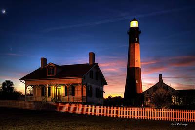 The Night Advances Tybee Island Lighthouse Art Art Print by Reid Callaway