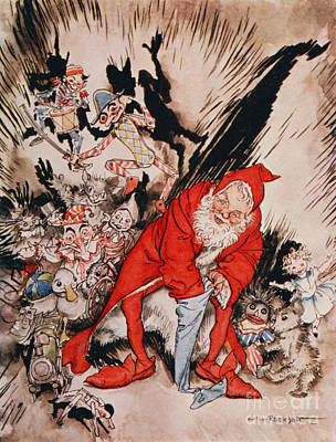 Poem Drawing - The Night Before Christmas by Arthur Rackham