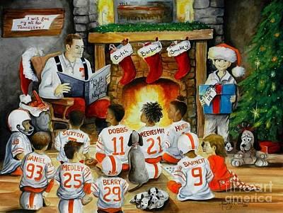 Ut Football Painting - The Night Before Neyland by Kimberly Daniel