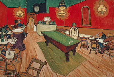Bar Decor Painting - The Night Cafe In Arles by Vincent van Gogh