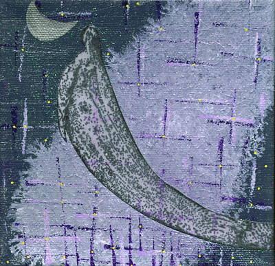 Night Angel Mixed Media - The Night Has Wings by Roberta Adams