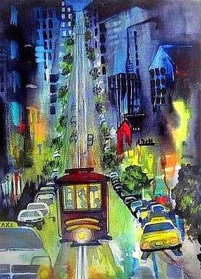 Painting - The Night Life by Esther Woods