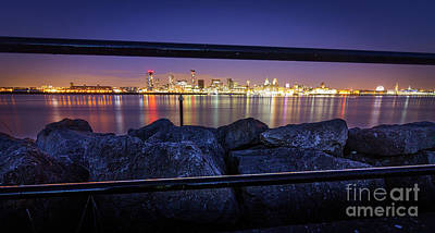 Photograph - The Night Lights Of Liverpool City by Andrew White