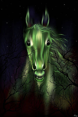 Digital Art - The Night Mare by Norman Klein