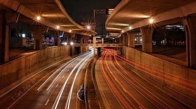 Long Street Digital Art - The Night On 35 by Robert Clark