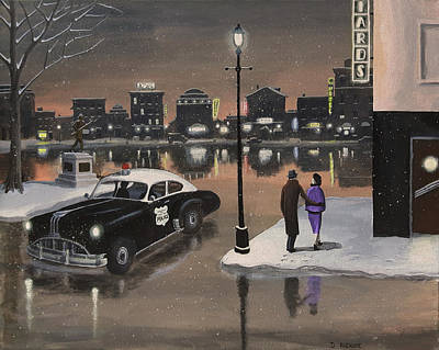 Painting - The Night Patrol by Dave Rheaume