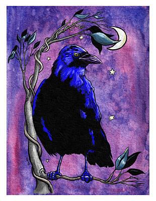 The Night Raven Art Print by Baird Hoffmire