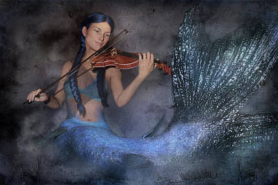Surrealism Digital Art - The Night She Played by Betsy Knapp