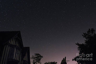 Photograph - The Night Sky, Great Dixter House, Oast And Barn by Perry Rodriguez