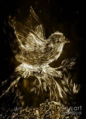Mixed Media - The Night Sparrow by Maria Urso