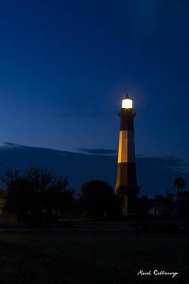 The Night Watcher Tybee Island Lighthouse Art Print by Reid Callaway