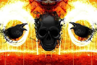 Digital Art - The Night Watchman 4 by Wesley Nesbitt