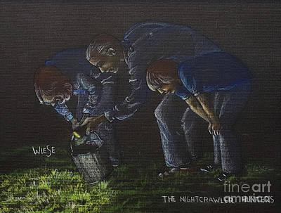 The Nightcrawler Hunters Art Print by Marilynn Wiese