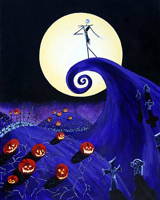 Tim Painting - The Nightmare Before Christmas by Mr Minor