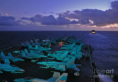 Aircraft Carrier Painting - The Nimitz-class Aircraft Carrier Uss Abraham Lincoln by Celestial Images