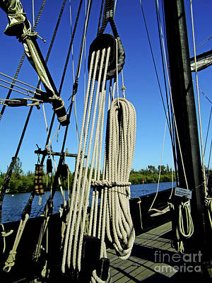 Photograph - The Ninas Rigging by D Hackett