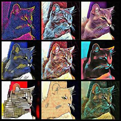 Digital Art - The Nine Lives Of Stevie Mouse by Dorothy Berry-Lound