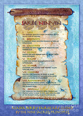 Matanuska Painting - The Nine Sacred Principles by Teresa Ascone