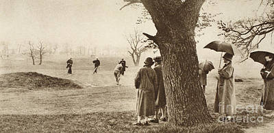 The Ninth Green At Tooting Bec Golf Course Print by English School