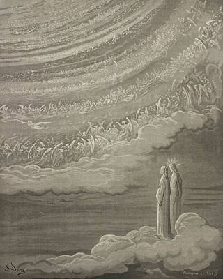 Gustave Wall Art - Drawing - The Ninth Heaven by Gustave Dore