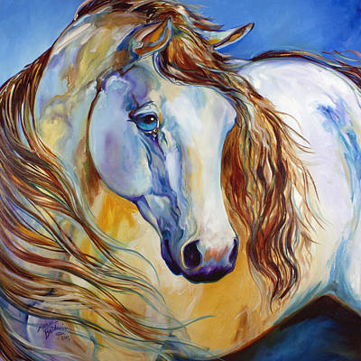 Painting - The Nobel Spirit Equine by Marcia Baldwin